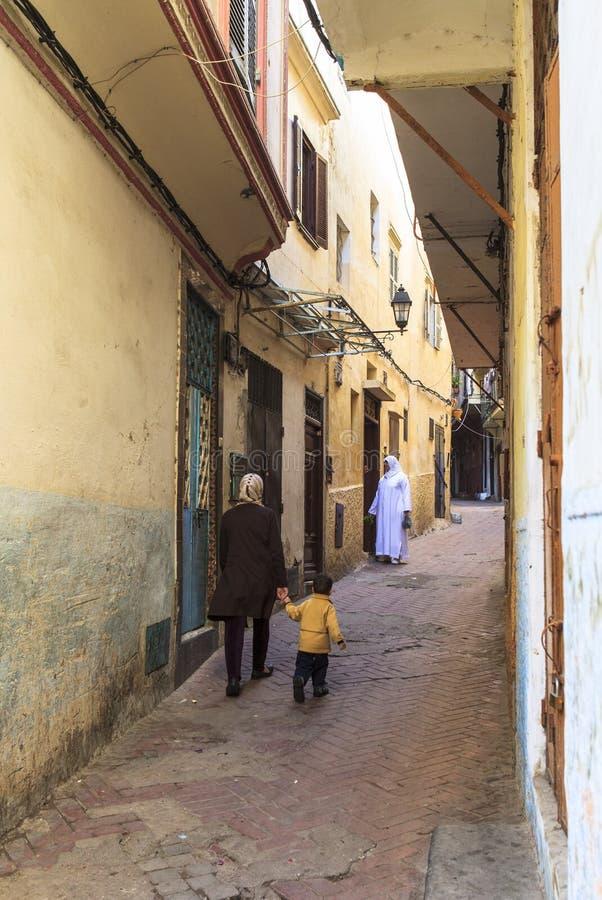 Medina in Tanger, Marokko royalty-vrije stock foto