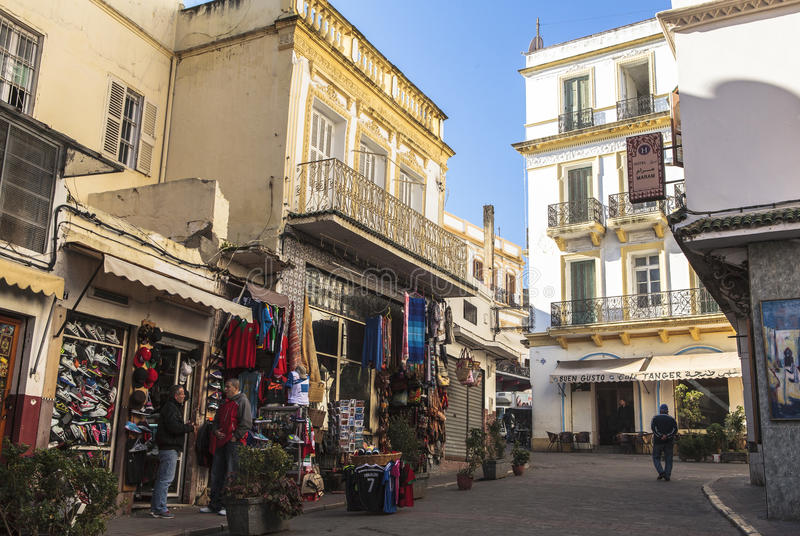 Medina in Tanger, Marokko stock afbeelding