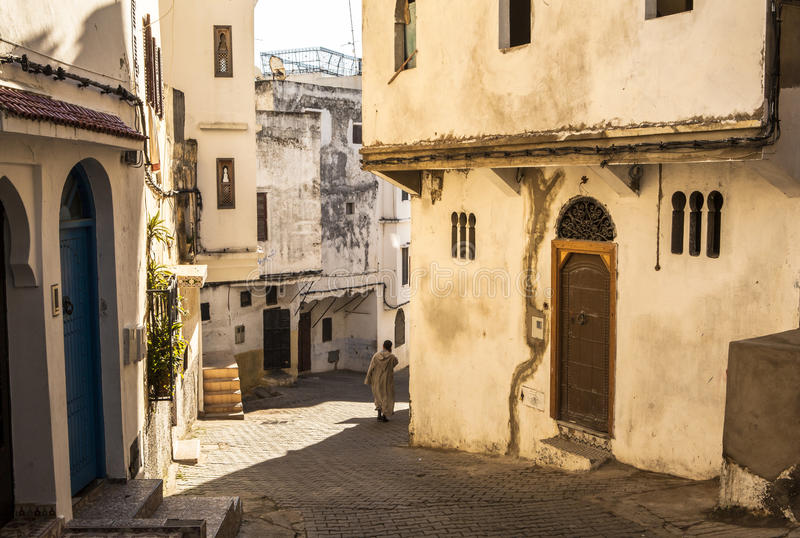 Medina of Tangier, Morocco. Tangier is a fascinating Moroccan city to visit. It has many of the things that travellers love--a sense of exotic mystery stock images