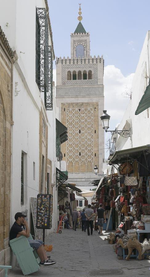 Medina in Tunis stock foto's