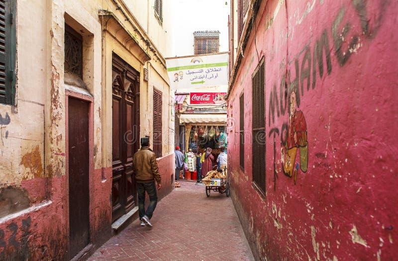 Medina van Tanger, Marokko stock foto's