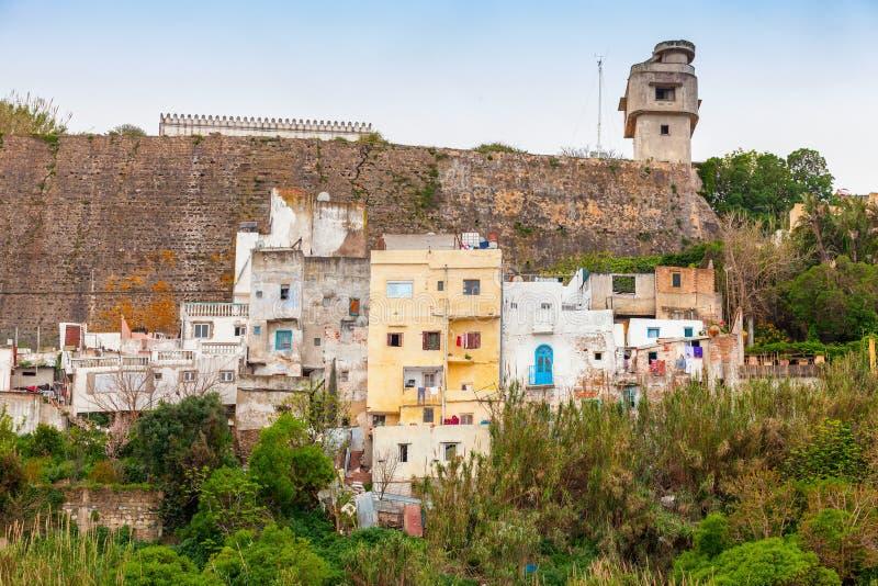 Medina van Tanger, Marokko Oude het leven huizen stock afbeelding