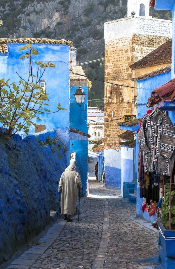 Medina von Chefchaouen, Marokko stockbilder