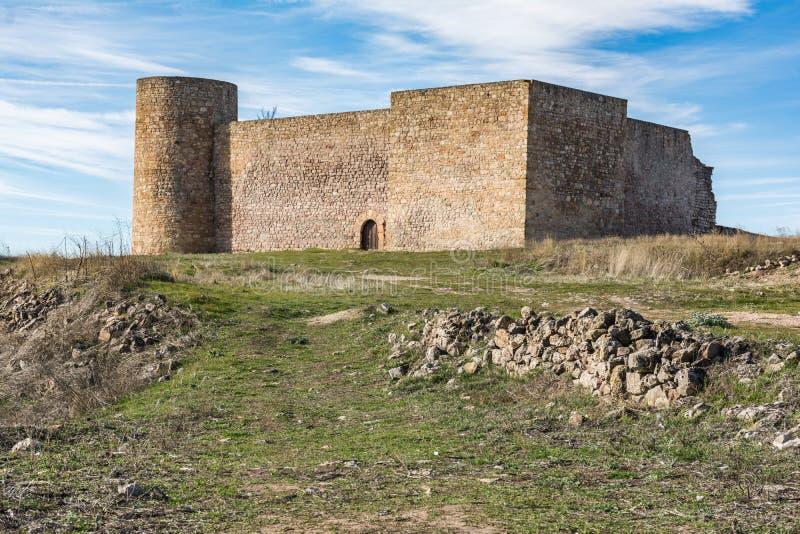 Medinaceli en zijn kasteel in een van de meest onbevolkte provincies van Europa Soria, Spanje stock foto