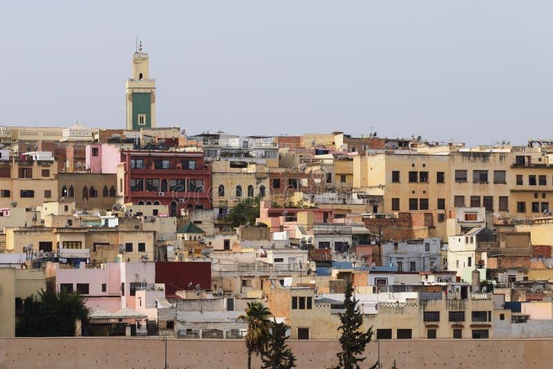 Medinaen av Meknes, Marocko arkivbild