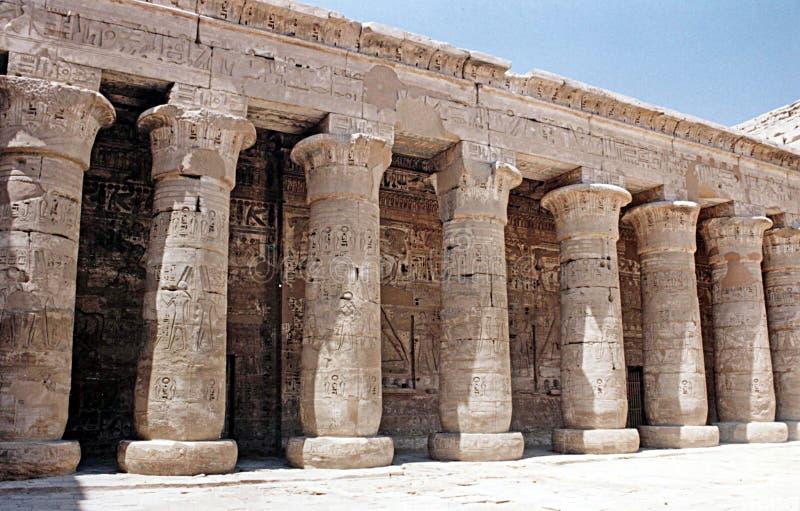 medinet de habu de l'Egypte photo libre de droits