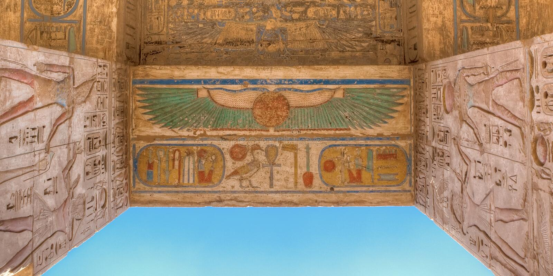 Medinet Habu świątynia w Luxor, Egipt zdjęcie royalty free