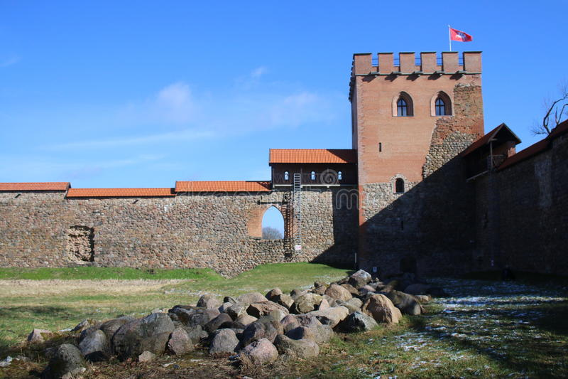 Medininkai замка стоковая фотография rf