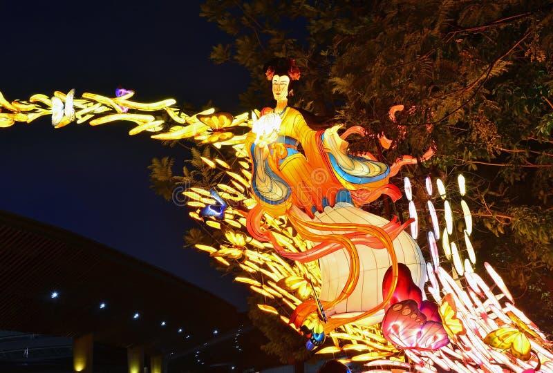 Medio Autumn Festival At Gardens door de Baai stock afbeeldingen