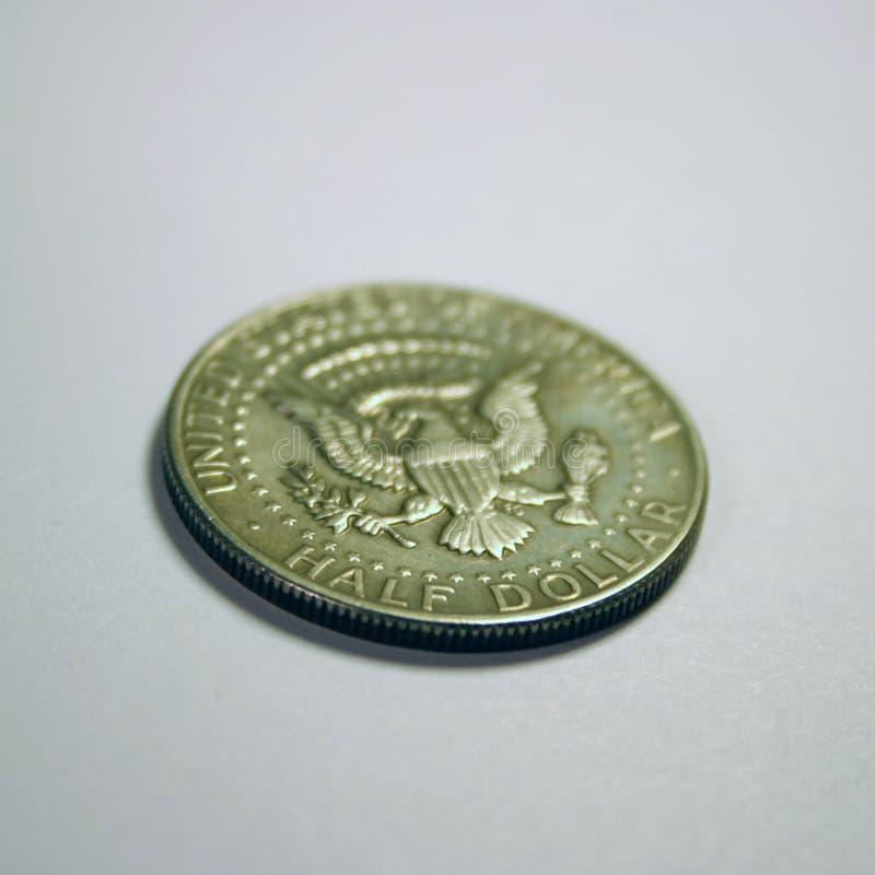 Medio dólar imagen de archivo