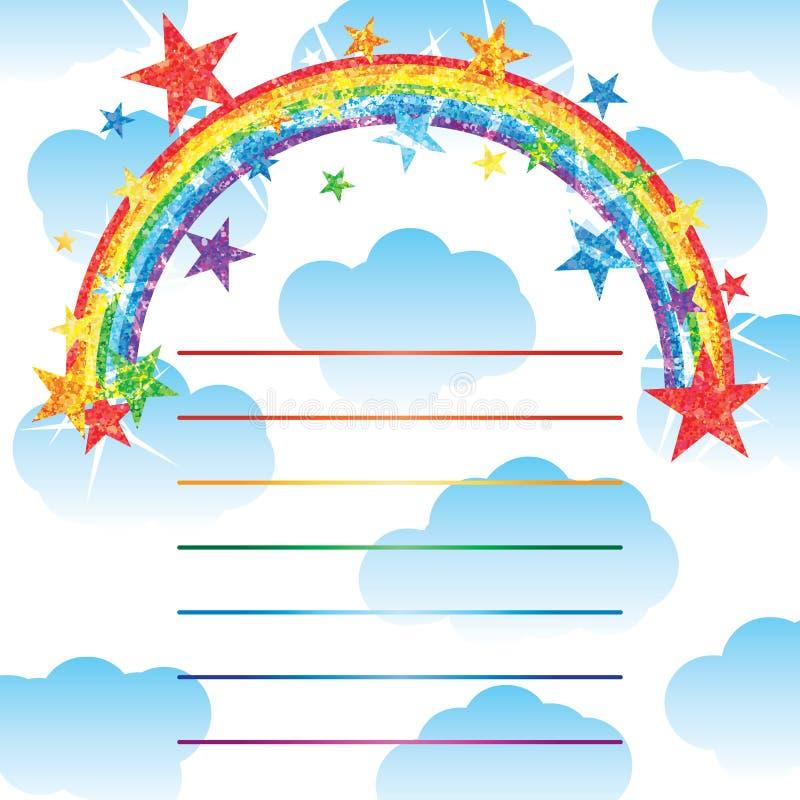 Medio efecto de la tarjeta del brillo del arco iris libre illustration