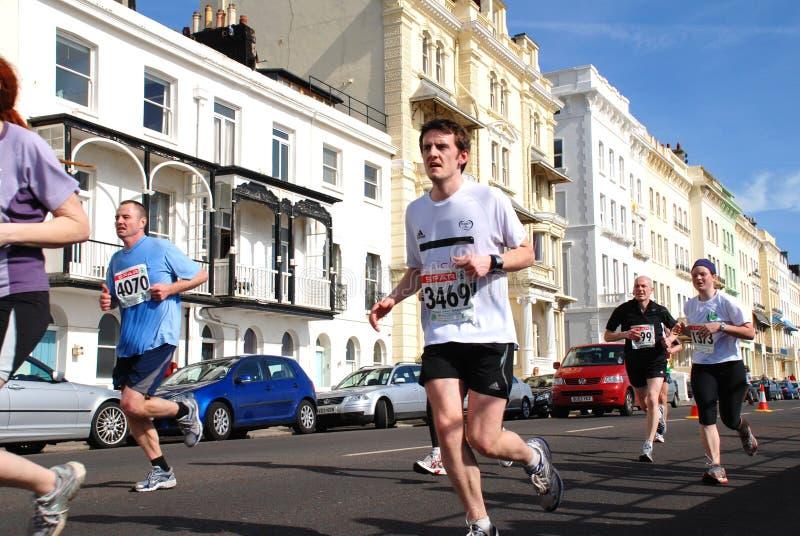 Medio maratón de Hastings fotografía de archivo libre de regalías