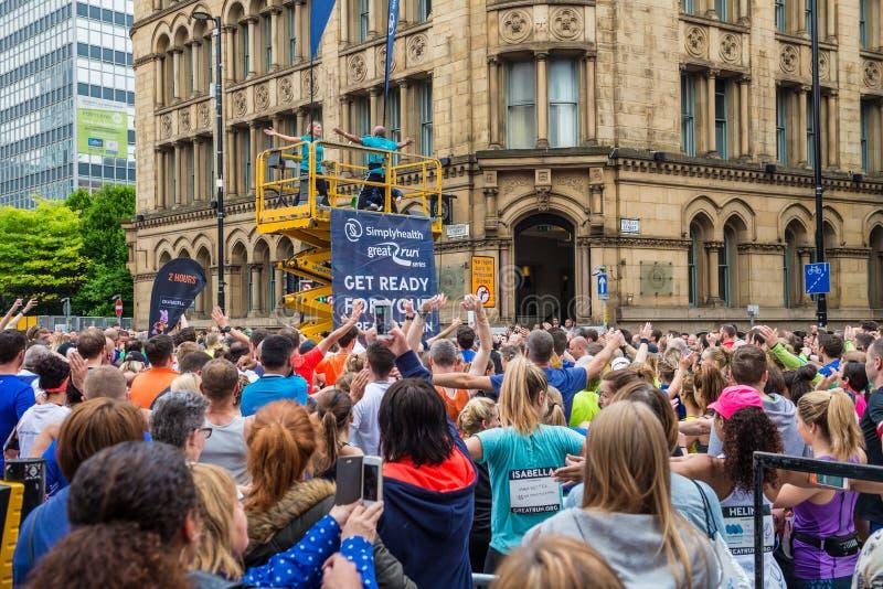 MEDIO MARATÓN en Manchester, Reino Unido fotografía de archivo