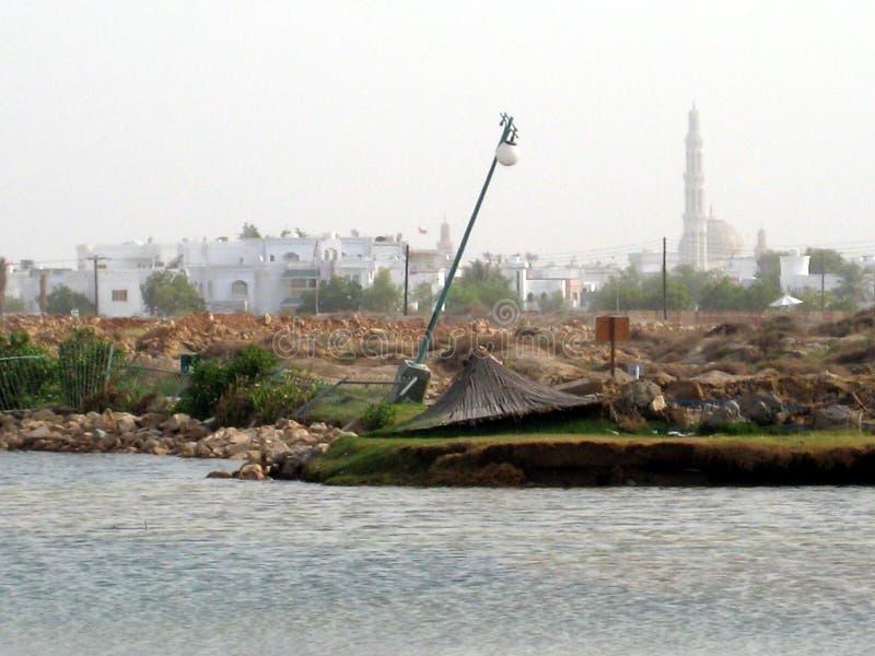 Medio Oriente, Omán, visión pintoresca sobre fotografía del paisaje de Muscat Omán foto de archivo