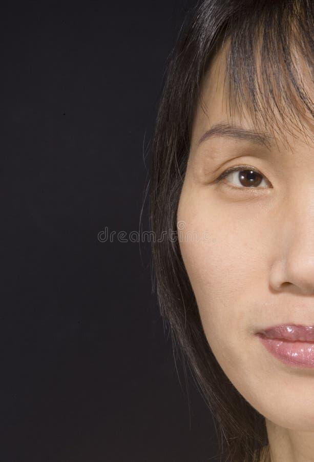 Medio retrato de la cara. fotos de archivo