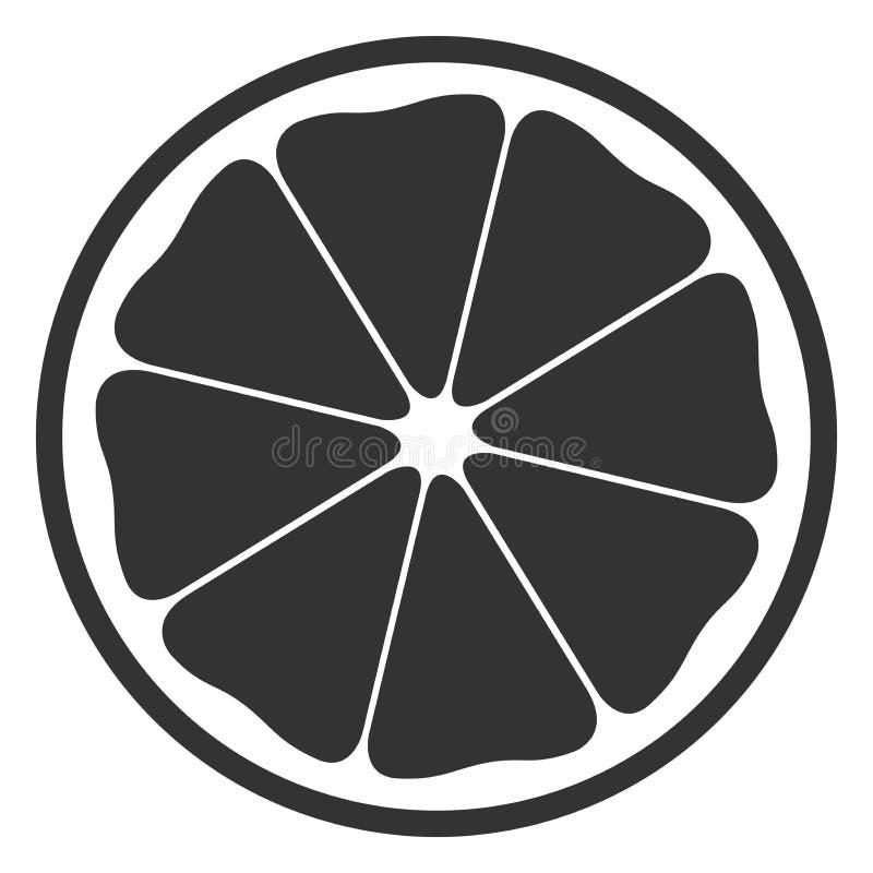 Medio símbolo anaranjado blanco y negro ilustración del vector
