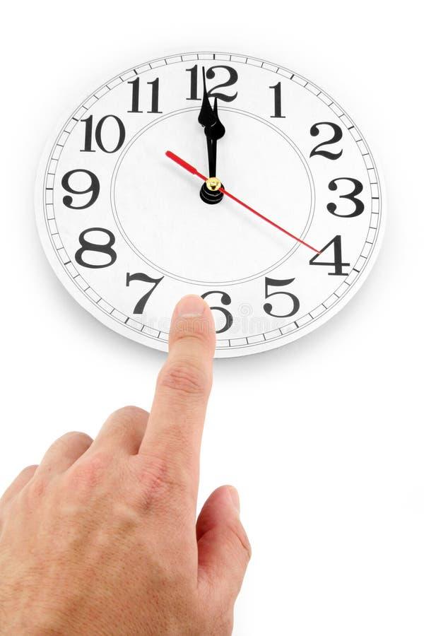 Mediodía, concepto de control de tiempo imagenes de archivo