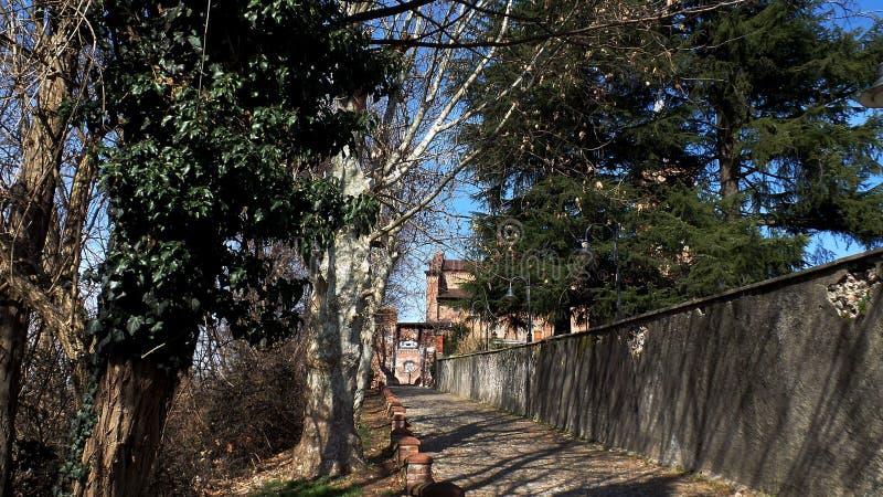 Medioeval-Dorf Castiglione Olona Italien lizenzfreie stockfotografie