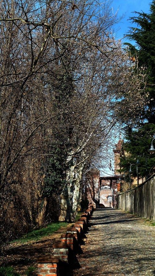 Medioeval-Dorf Castiglione Olona Italien stockbild