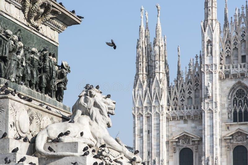 Mediolańska katedra zdjęcie royalty free