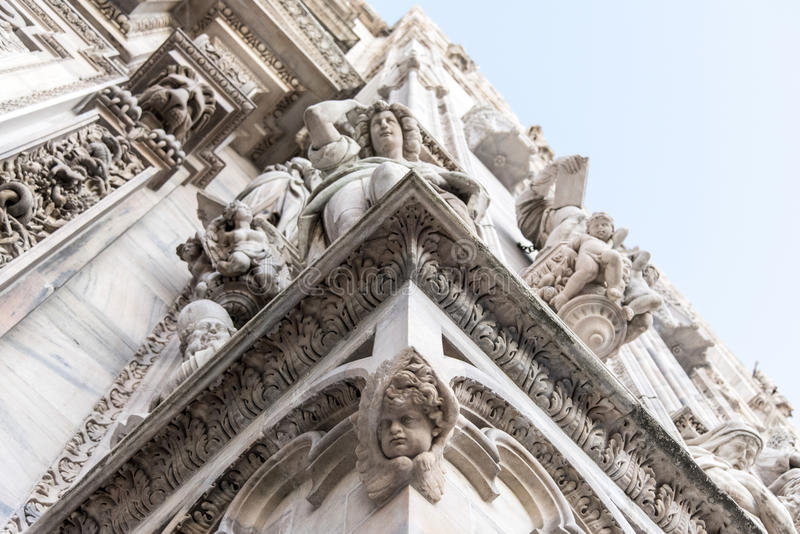 Mediolańska katedra fotografia royalty free