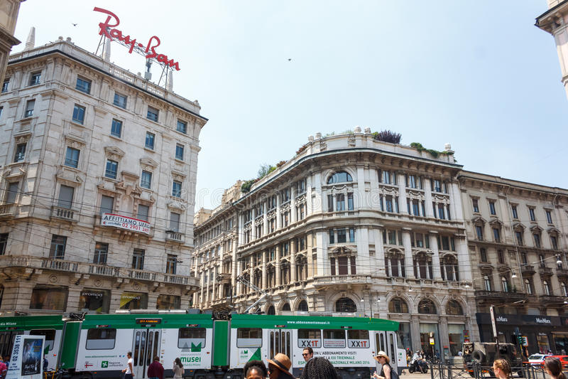 Mediolańska ulica zdjęcie stock