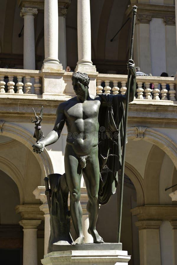 Mediolański Brera galerii sztuki zabytek Napoleon poczynał Canova zdjęcie stock