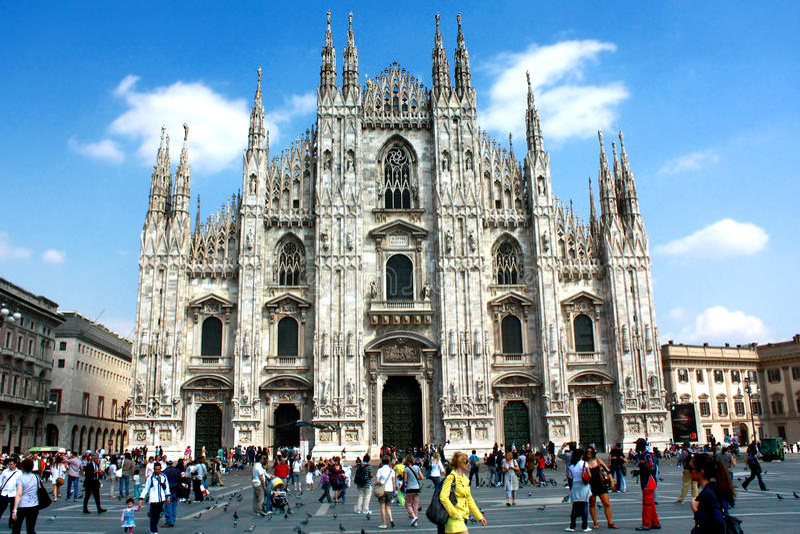 Mediolański Duomo fotografia royalty free