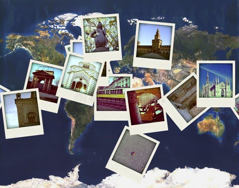Mediolańskie pocztówki obrazy royalty free