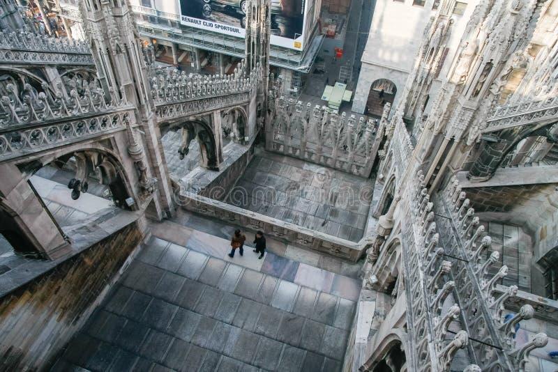 MEDIOLAN, ITALY/EUROPE - FBRUARY 23: Szczegół linia horyzontu fotografia royalty free