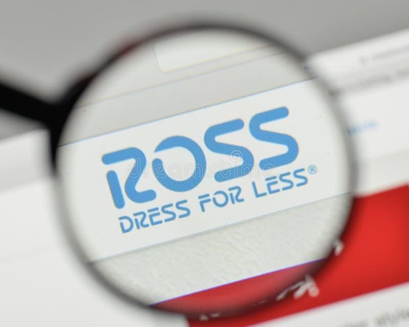 Mediolan Włochy, Listopad, - 1, 2017: Ross suknia Dla Mniej loga na obraz royalty free