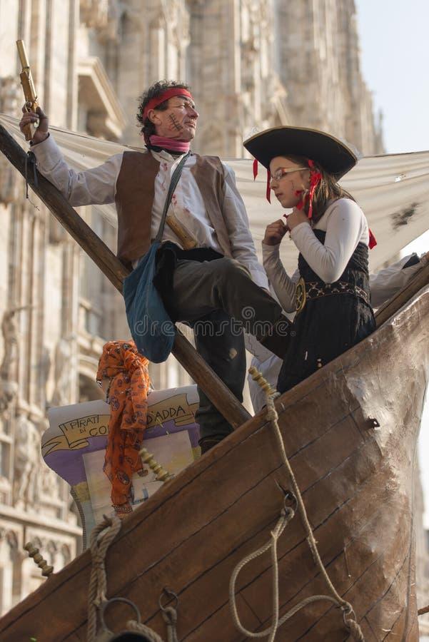 Pirata naczynie i minister, Mediolan obraz stock