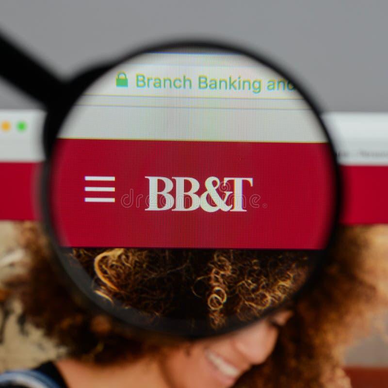 Mediolan Włochy, Sierpień, - 10, 2017: BB&T Corp logo na stronie internetowej h fotografia royalty free