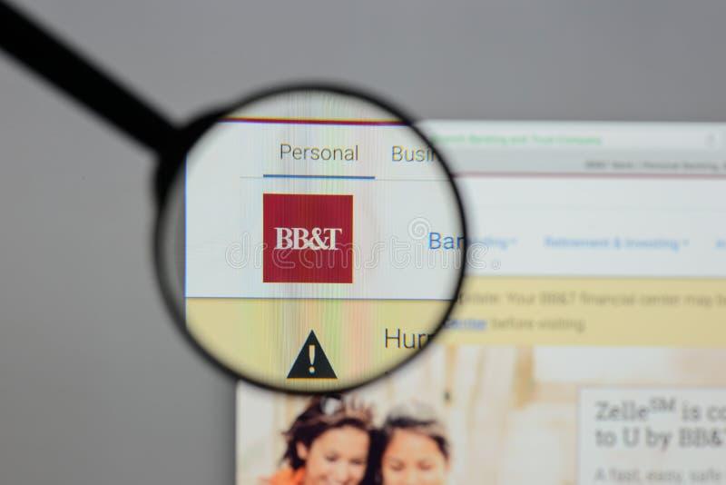 Mediolan Włochy, Sierpień, - 10, 2017: BB&T Corp logo na stronie internetowej h obrazy stock