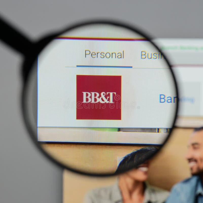Mediolan Włochy, Sierpień, - 10, 2017: BB&T Corp logo na stronie internetowej h zdjęcie stock