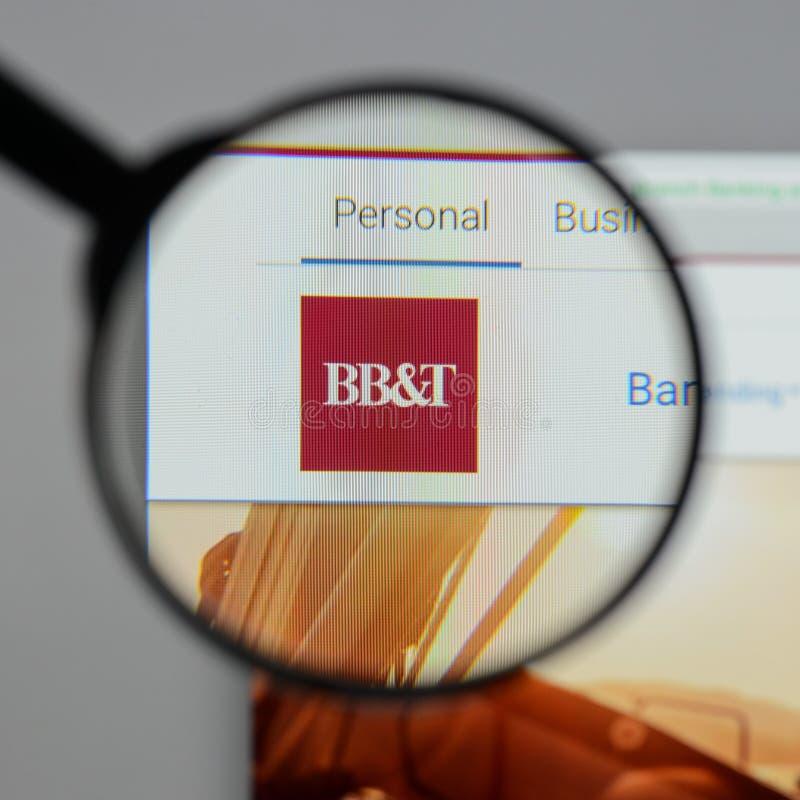 Mediolan Włochy, Sierpień, - 10, 2017: BB&T Corp logo na stronie internetowej h zdjęcie royalty free
