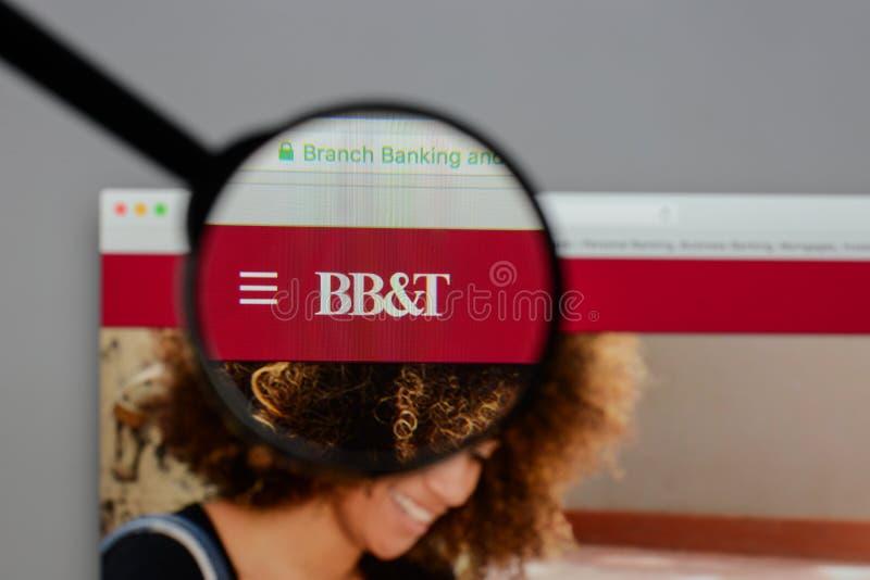 Mediolan Włochy, Sierpień, - 10, 2017: BB&T Corp logo na stronie internetowej h zdjęcia royalty free