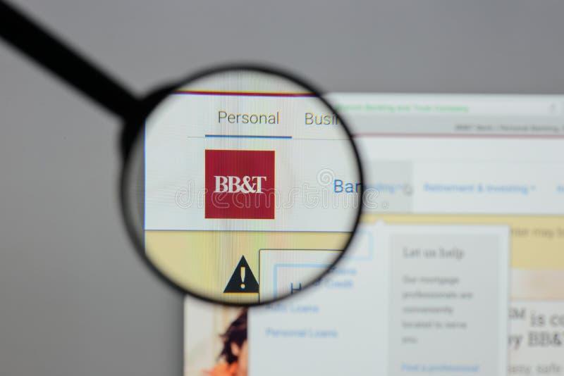 Mediolan Włochy, Sierpień, - 10, 2017: BB&T Corp logo na stronie internetowej h zdjęcia stock