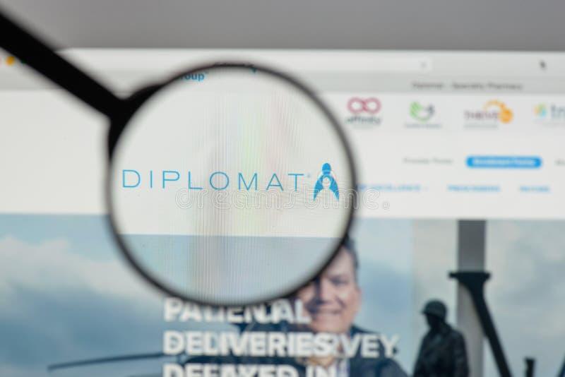 Mediolan Włochy, Sierpień, - 10, 2017: Dyplomata apteki logo na my obrazy royalty free