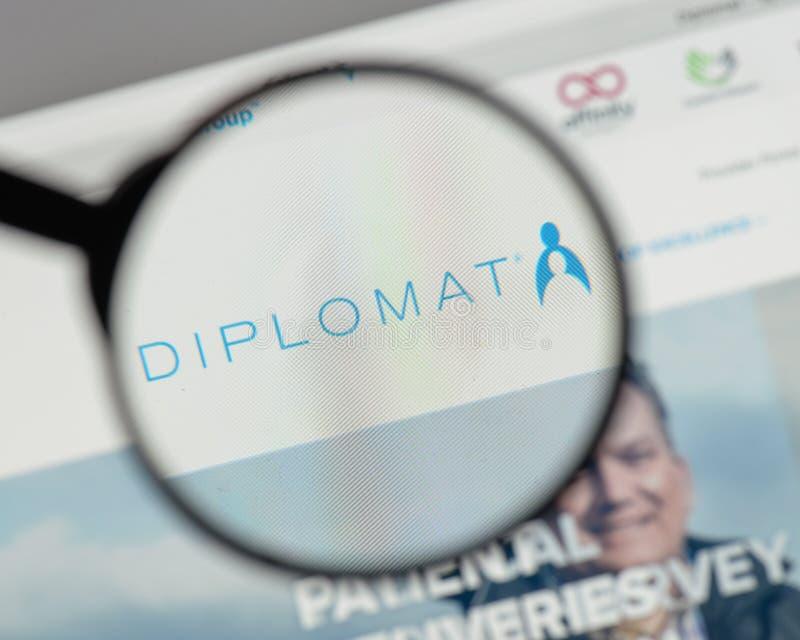 Mediolan Włochy, Sierpień, - 10, 2017: Dyplomata apteki logo na my zdjęcia stock