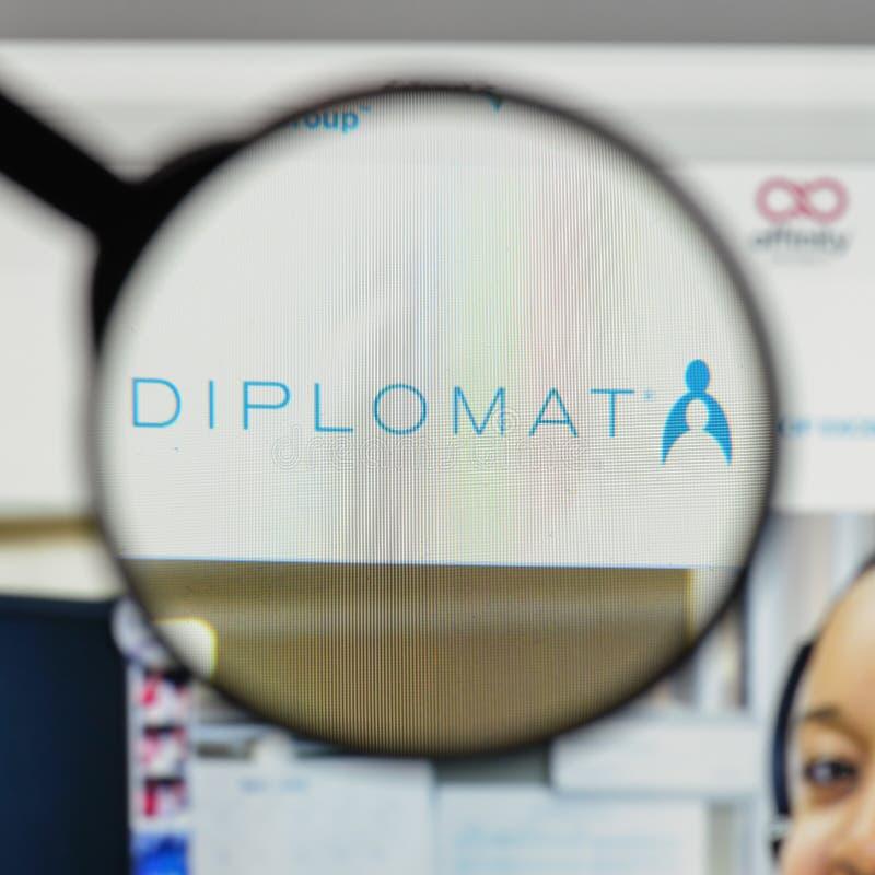 Mediolan Włochy, Sierpień, - 10, 2017: Dyplomata apteki logo na my obrazy stock