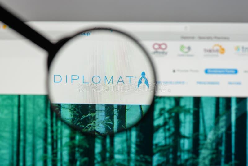 Mediolan Włochy, Sierpień, - 10, 2017: Dyplomata apteki logo na my fotografia stock