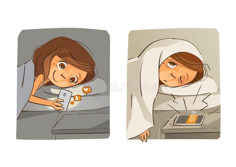 Medios adicto social foto de archivo