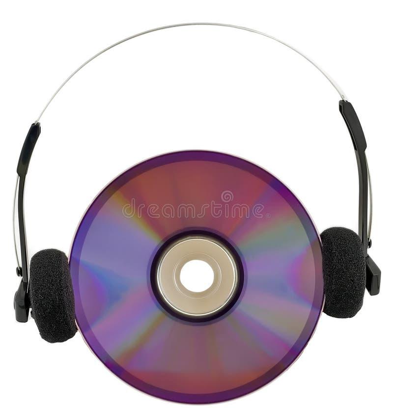 Medios auriculares en disco fotos de archivo libres de regalías
