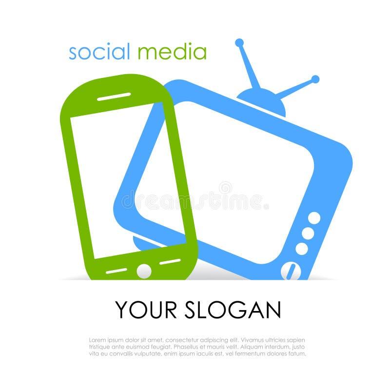 Medios cartel social libre illustration