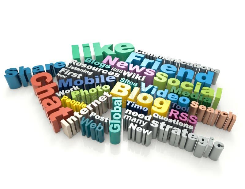 Medios concepto social de la palabra libre illustration