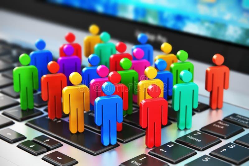 Medios concepto social del negocio del márketing libre illustration