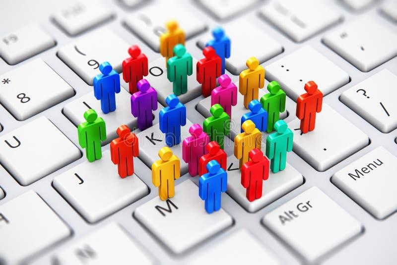 Medios concepto social del negocio del márketing ilustración del vector