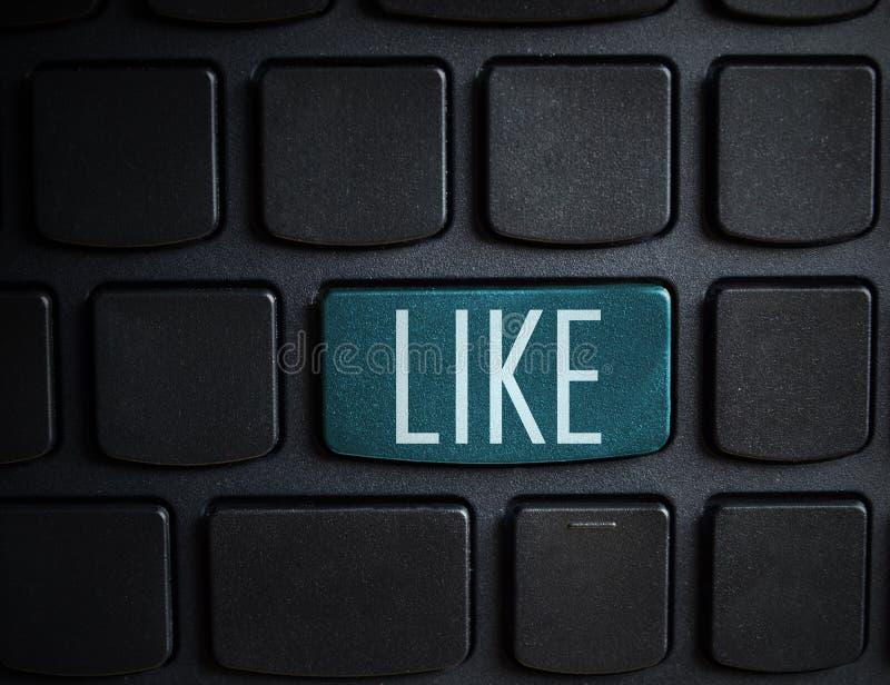 Medios concepto social: Entre en el botón con como en el ordenador keyboar imagen de archivo libre de regalías