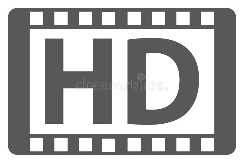 Medios de HD stock de ilustración